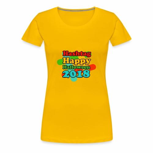 hashtag happy halloween 2018 - T-shirt Premium Femme