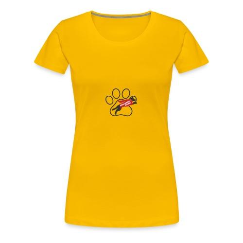 Hundepfote Haustierhero groß - Frauen Premium T-Shirt