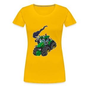 GREEN TRACTOR white border - Vrouwen Premium T-shirt
