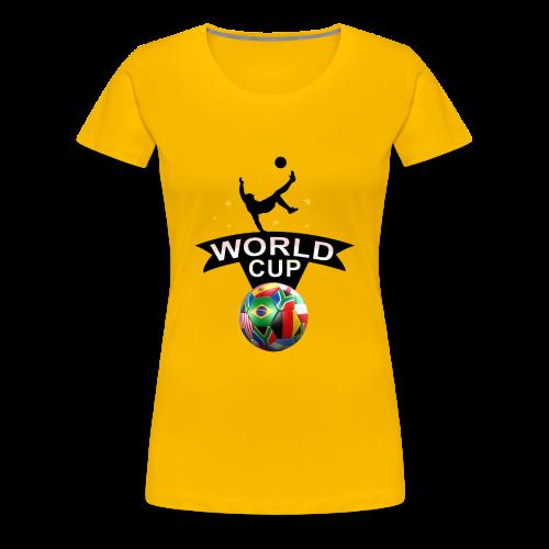 Fußball Design - Frauen Premium T-Shirt