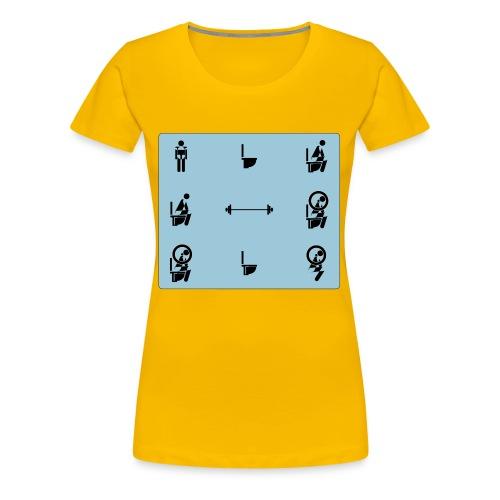 How to squat - Women's Premium T-Shirt