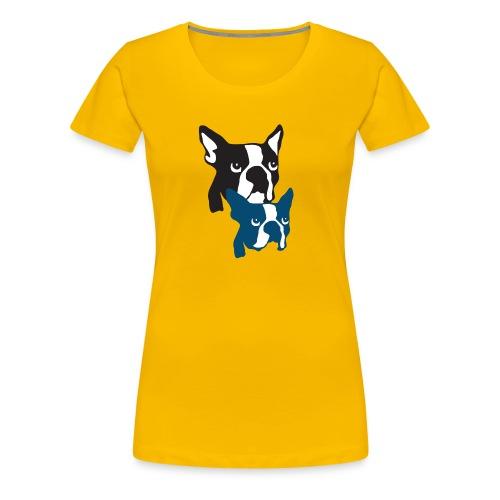 Boston Terrier Knochentiger - Frauen Premium T-Shirt