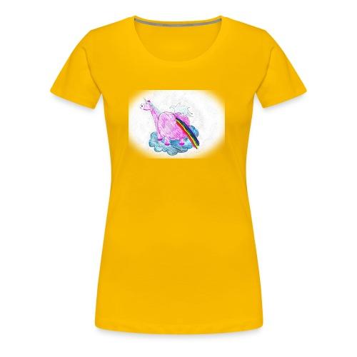 Regenbogen pupsendes Einhorn - Frauen Premium T-Shirt