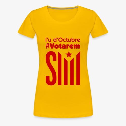 referendum 2017 vermell - Camiseta premium mujer
