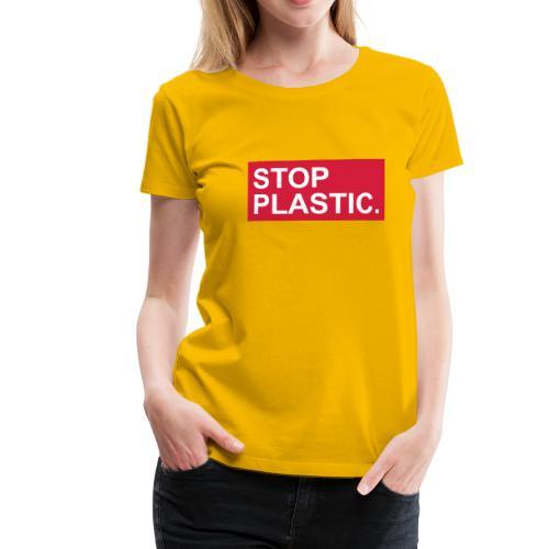stop-plastic - Frauen Premium T-Shirt