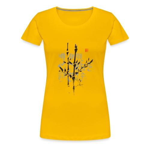 Haiku bambú - Camiseta premium mujer