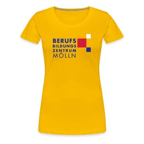 BBZ Logo blaue Schrift Schulkleidung.eps - Frauen Premium T-Shirt