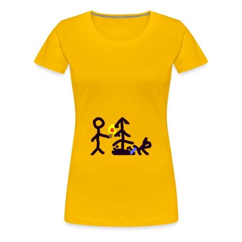 Light Christmas tree - Frauen Premium T-Shirt