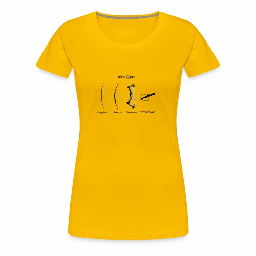 Bow Types - Women's Premium T-Shirt