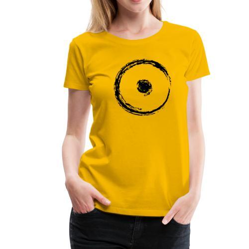 Wegzeichen Ziel erreicht- Kreide - Farbe wählbar - Frauen Premium T-Shirt