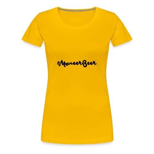 LogoText - Vrouwen Premium T-shirt
