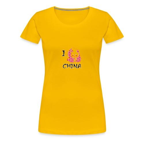 I Love China - Women's Premium T-Shirt