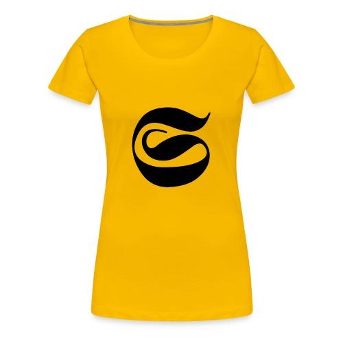 LOGO NEGRO STAINED - Camiseta premium mujer
