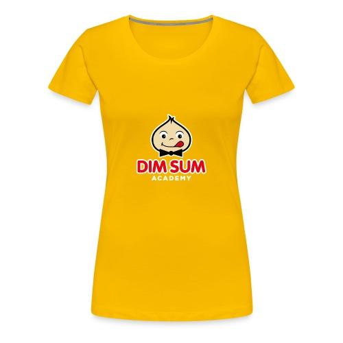 Dim Sum Academy Logo blanc - T-shirt Premium Femme
