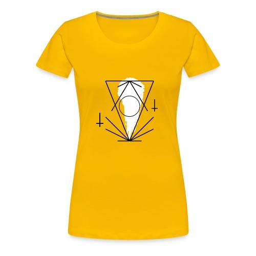 Geo-oddity_line_whiteout - Women's Premium T-Shirt