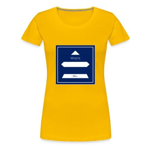 White Blue - T-shirt Premium Femme