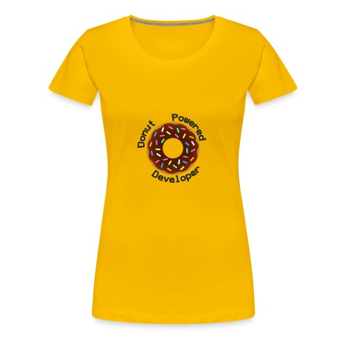 Donut Powered Developer - Camiseta premium mujer
