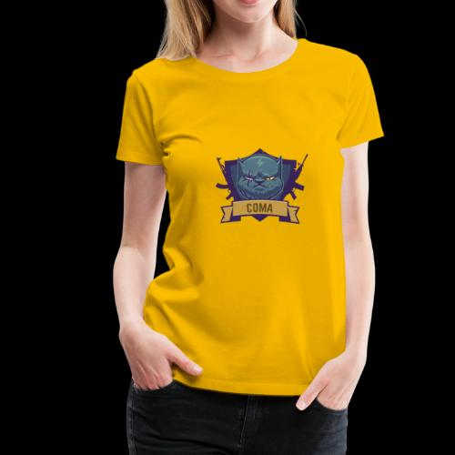 logo coma - T-shirt Premium Femme