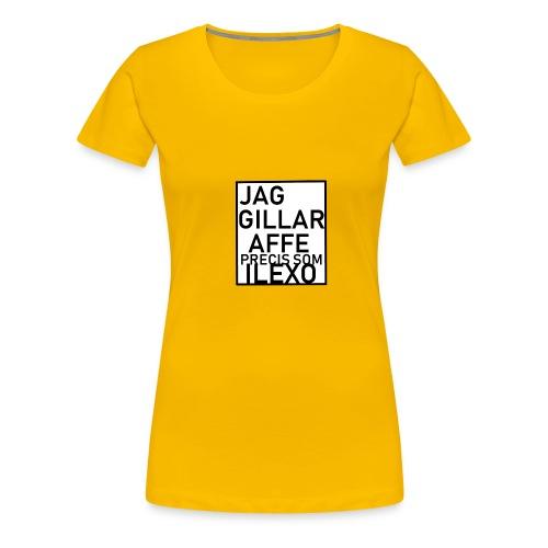 jag gillar AFFE - Premium-T-shirt dam