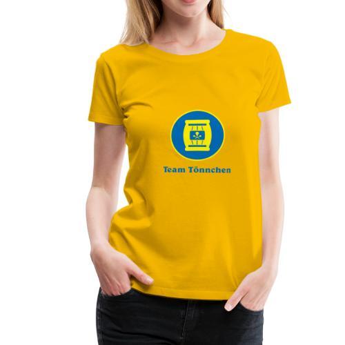 Team Tönnchen Logo mit Text in Vicky-Farben - Frauen Premium T-Shirt