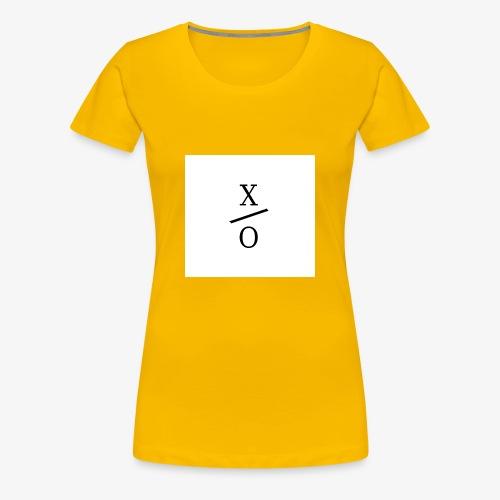 X/0 logo square - Premium-T-shirt dam