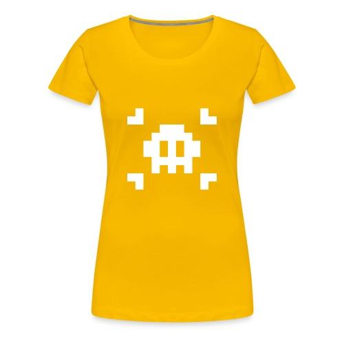 Pixel Skull - T-shirt Premium Femme