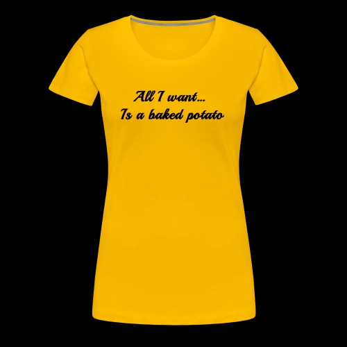 Baked potato - Women's Premium T-Shirt