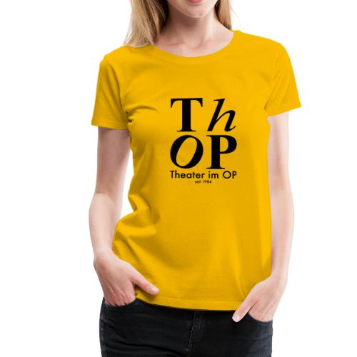 Grosses Logo SCHWARZ - Frauen Premium T-Shirt