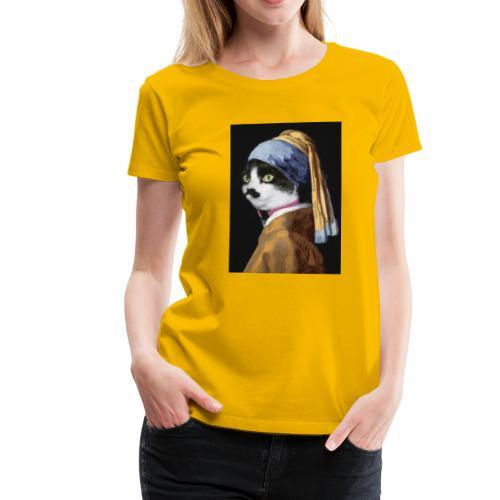 Micia Old Painting - Maglietta Premium da donna