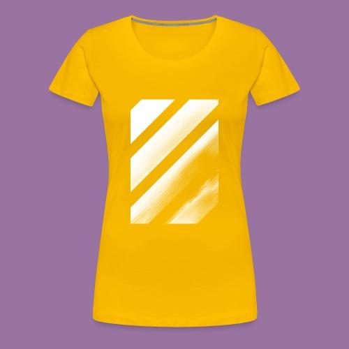 Stripes Diagonal White - Maglietta Premium da donna