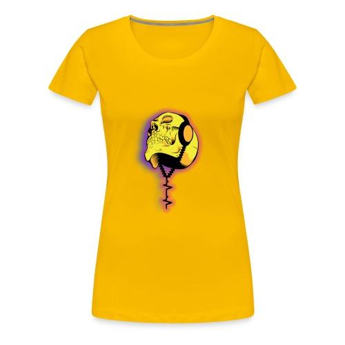 skull headphones - Frauen Premium T-Shirt