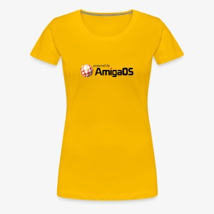poweredByAmigaOS Schwarz - Women's Premium T-Shirt