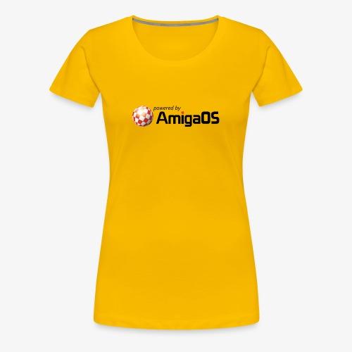 poweredByAmigaOS Schwarz - Frauen Premium T-Shirt