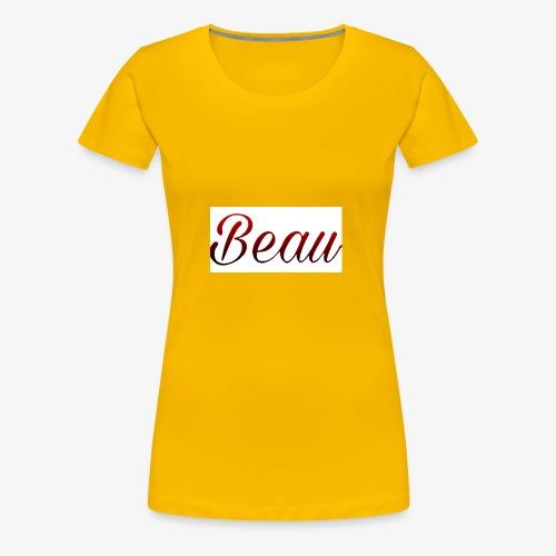 itzBeau Beau with white background - Women's Premium T-Shirt