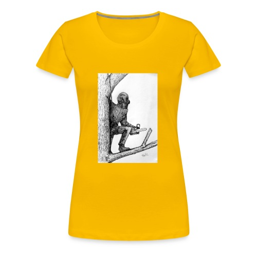 Arborist Tree Surgeon Using a Chainsaw - Women's Premium T-Shirt