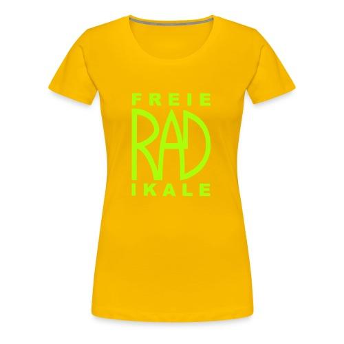 Freie RADikale Logo Gruen - Frauen Premium T-Shirt