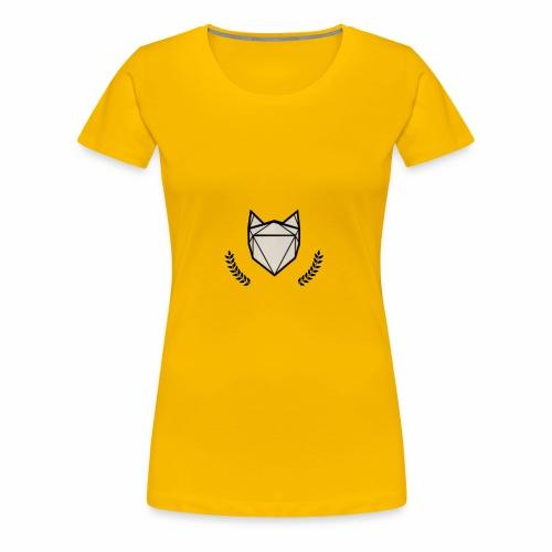 Fuchs mit Kranz - Frauen Premium T-Shirt