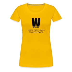 Willpower Science - Women's Premium T-Shirt