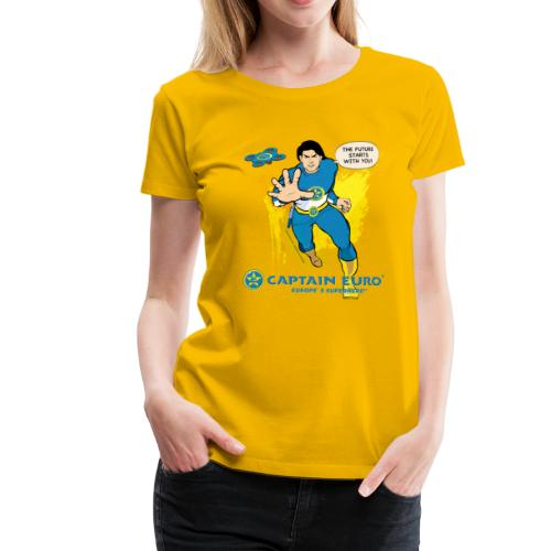 El futuro protagoniza contigo - marca azul. - Camiseta premium mujer
