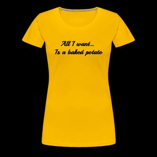 Baked potato - Women's Premium T-Shirt