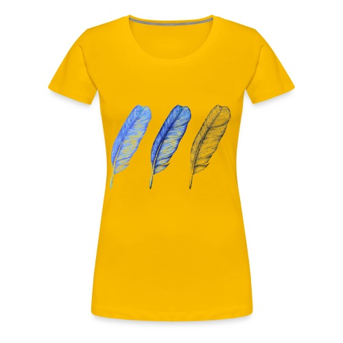 Federn - Frauen Premium T-Shirt