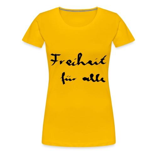 Freiheit für alle - schwarz - Frauen Premium T-Shirt