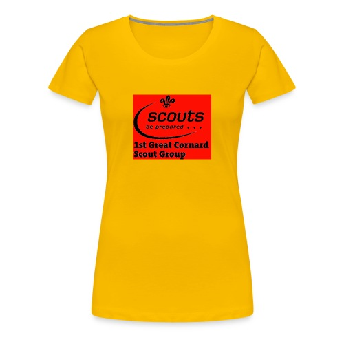 1st Great Cornard Scout Group - Women's Premium T-Shirt