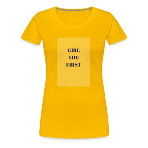 GIRLYOUFIRST - T-shirt Premium Femme