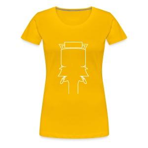 Kopf weiss groß - Frauen Premium T-Shirt