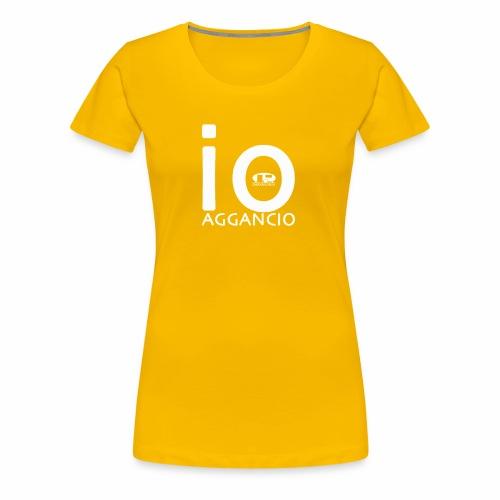 ioaggancio white - Maglietta Premium da donna