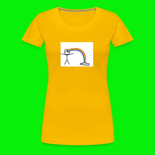 Me on rainbows - Women's Premium T-Shirt