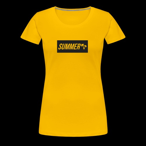 Summer Palm Logo - Premium T-skjorte for kvinner