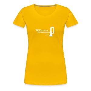 LOGO MK PIANS weiss dick - Frauen Premium T-Shirt