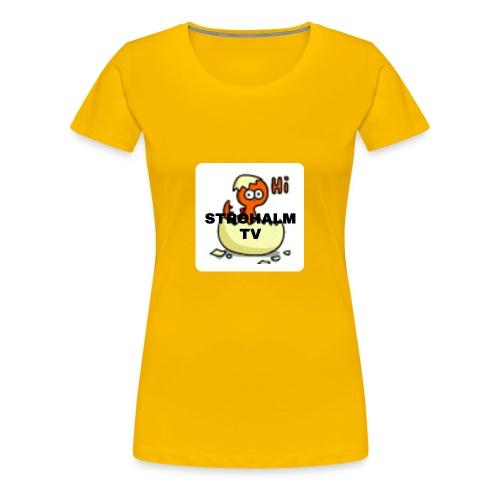 Strohalmskücken - Frauen Premium T-Shirt